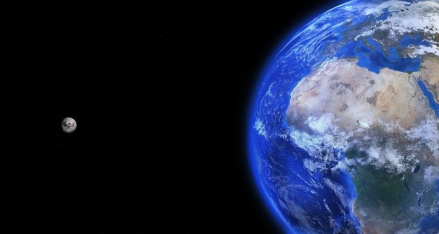 zeměkoule a měsíc
